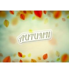 Hello Autumn vector image vector image