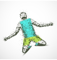 Abstract man vector image