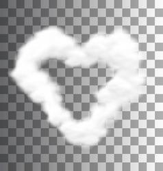 Fluffy Cloud Shape Heart Love vector image vector image