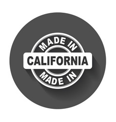 made in california vector image