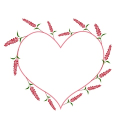 Scarlet Sage Flowers in A Heart Shape vector image vector image