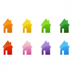 color cottages vector image vector image