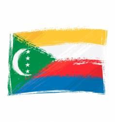 grunge Comoros flag vector image vector image