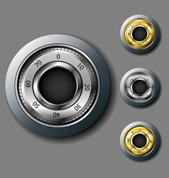 Safe combination lock set vector image vector image