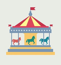 Vintage merry-go-round Carousel vector image