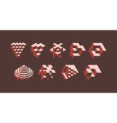 3d isometric symbols vector image vector image