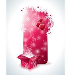 Christmas design with magic gift box vector image