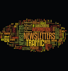 free web site traffic sources text background vector image vector image