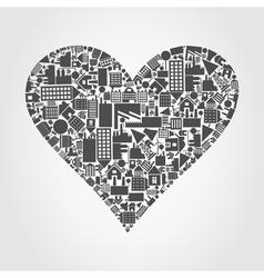 House heart vector image