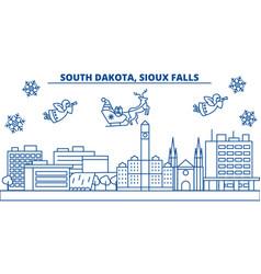 usa south dakota sioux falls winter city vector image vector image