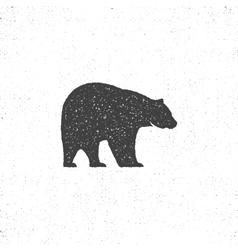 Vintage bear mascot symbol or icon in rough vector image vector image