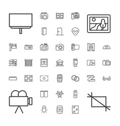 37 frame icons vector