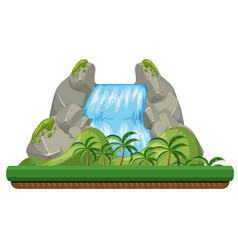 a nature waterfall on white background vector image