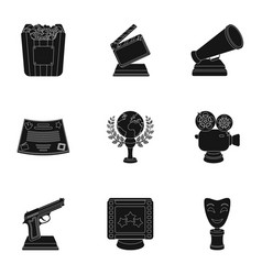 a set of awards for the movie viewings gold vector image