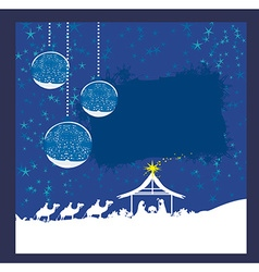 Abstract christmas card - birth of jesus in vector