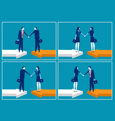 agreement business concept business vector image