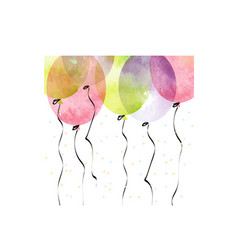 air balloons for background vector image