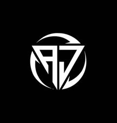 Aj logo monogram design template vector