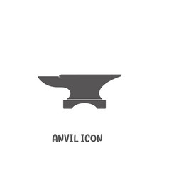 anvil icon simple flat style vector image