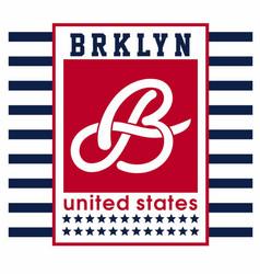 Brooklyn united states vector