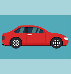 car from the side - realistic vector image