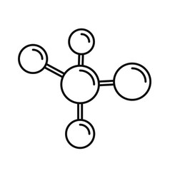 chemistry molecule icon outline style vector image