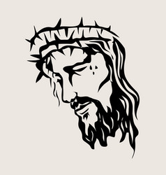 Christ sketch drawing vector