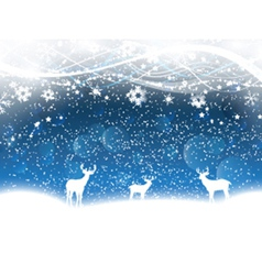 Christmas background with deer 2211 vector