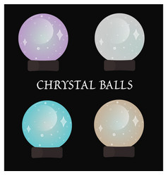 Chrystal balls vector