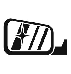 clean car mirror icon simple style vector image