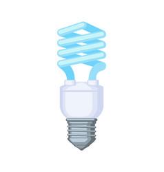 Colorful cartoon fluorescent bulb vector
