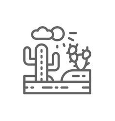 country landscape desert line icon vector image