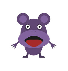 Cute purple mouse vector