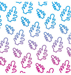 Degraded line botanic cute leaf style background vector
