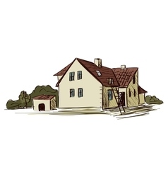 Doodle farm vector