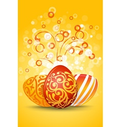 easter eggs decoration vector image