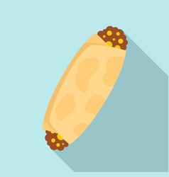 enchilada food icon flat style vector image