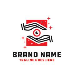 eye protection logo design vector image