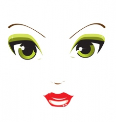 female eyes vector image