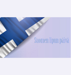 finnish flag day realistic national background vector image