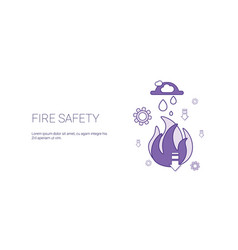 fire safety technology template web banner with vector image