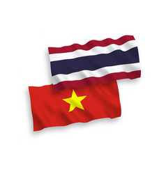 Flags thailand and vietnam on a white vector