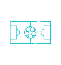 football field thin line icon soccer playing area vector image