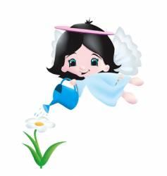 garden angel vector image