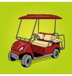 Golf cart pop art style vector