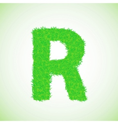 grass letter R vector image vector image