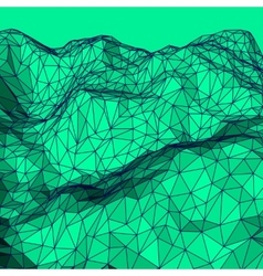 Green Abstract Polygonal Background vector image