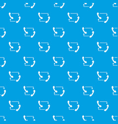 handsets with arrows pattern seamless blue vector image