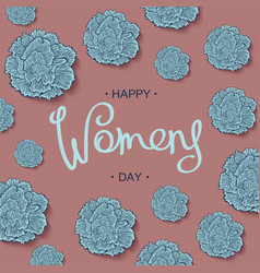 happy womens day design template vector image