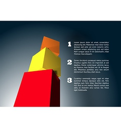 Infographic with 3D cube pyramid vector image vector image